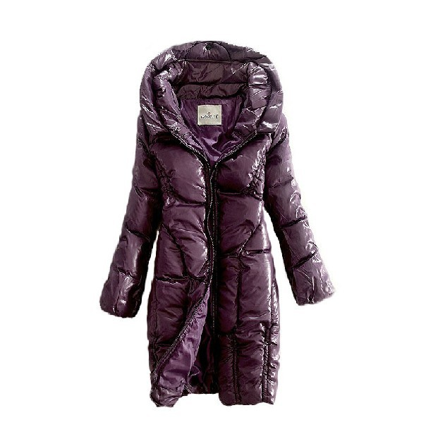 NEW! Moncler women long coats zip purple style