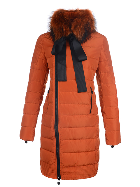Coats Moncler Mayuko women fur collar Ora