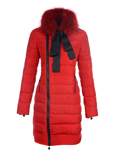 Coats Moncler Mayuko women fur collar Rou