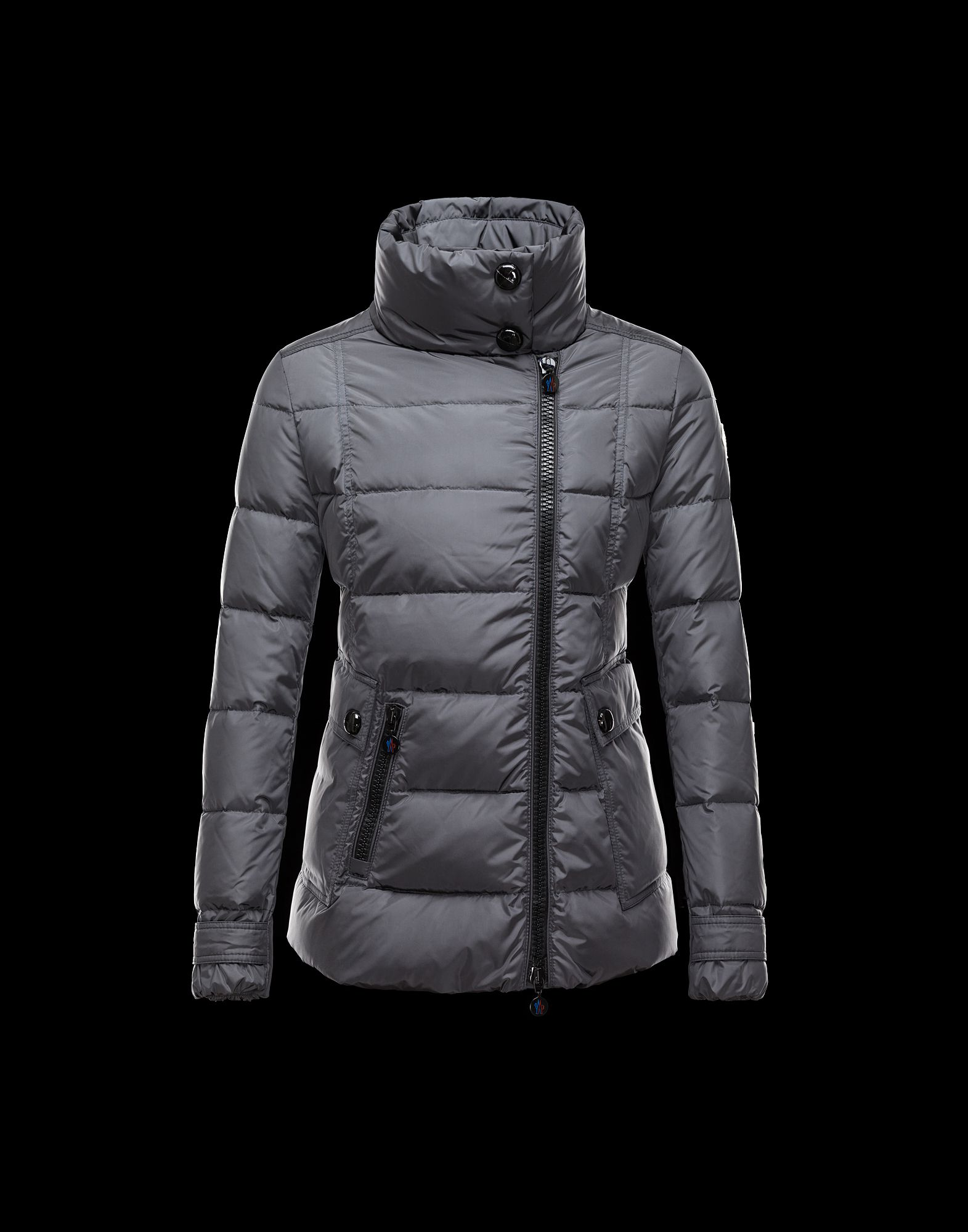 Women Moncler Down Jacket RENOUEE short gray jackets