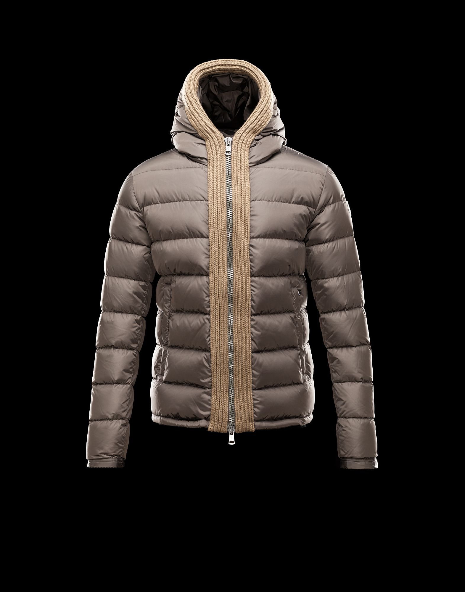 Moncler Men's Down Jacket Hooded Down Green