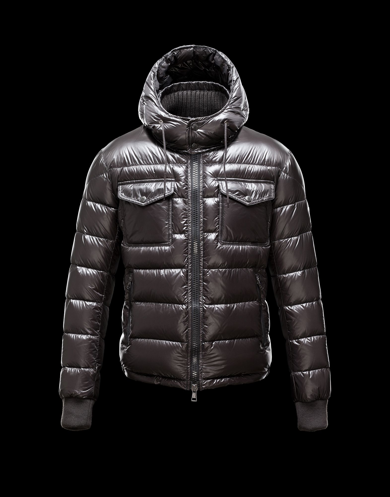 Moncler FEDOR Men Hooded Down Jacket Gray