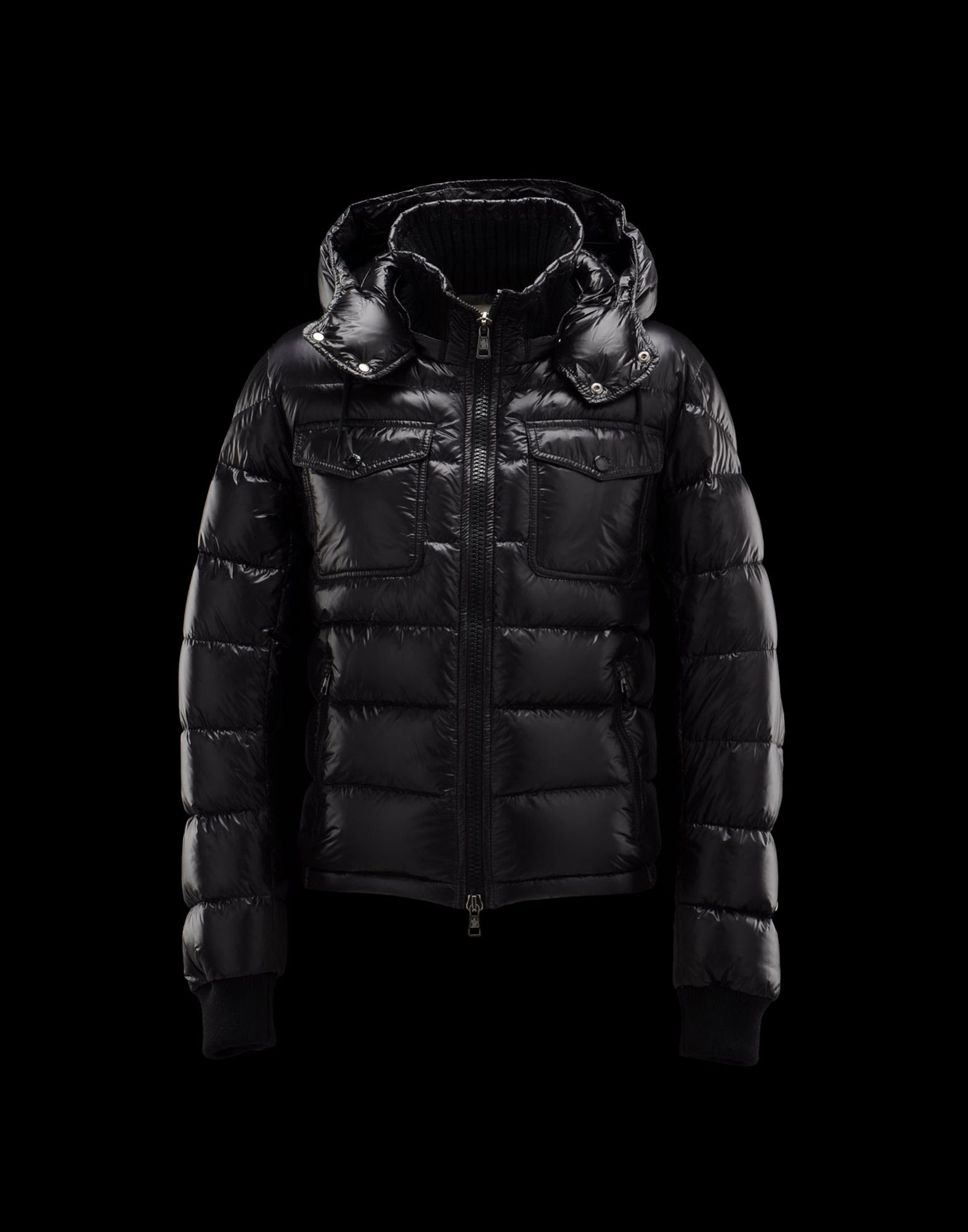 Moncler FEDOR Men Hooded Jackets Black