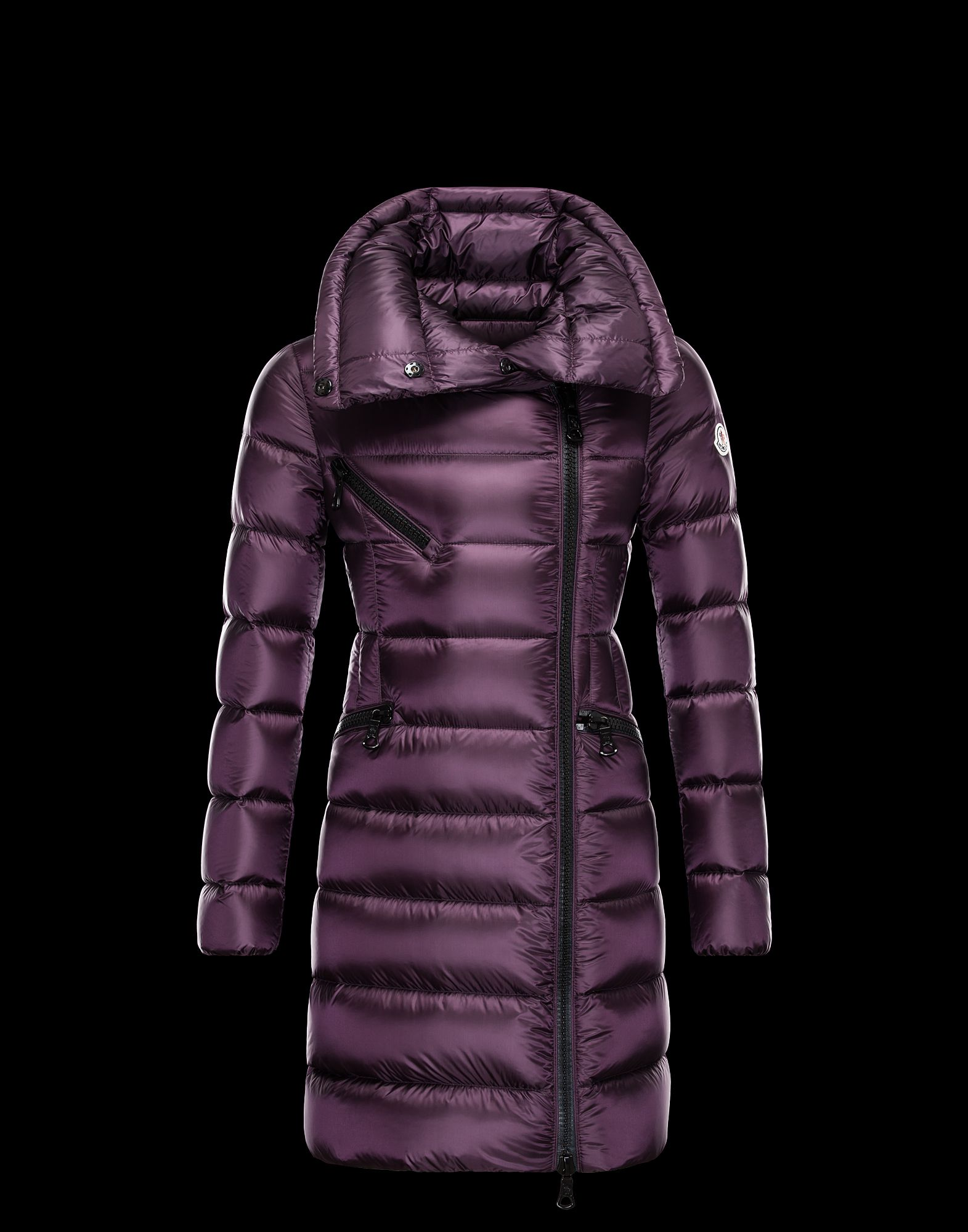 Moncler FLOWERS long purple violet