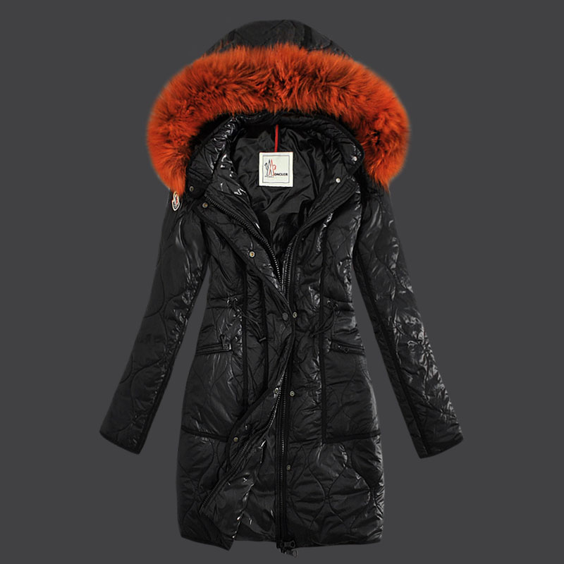 Moncler Women's Winter Coat Hood Black