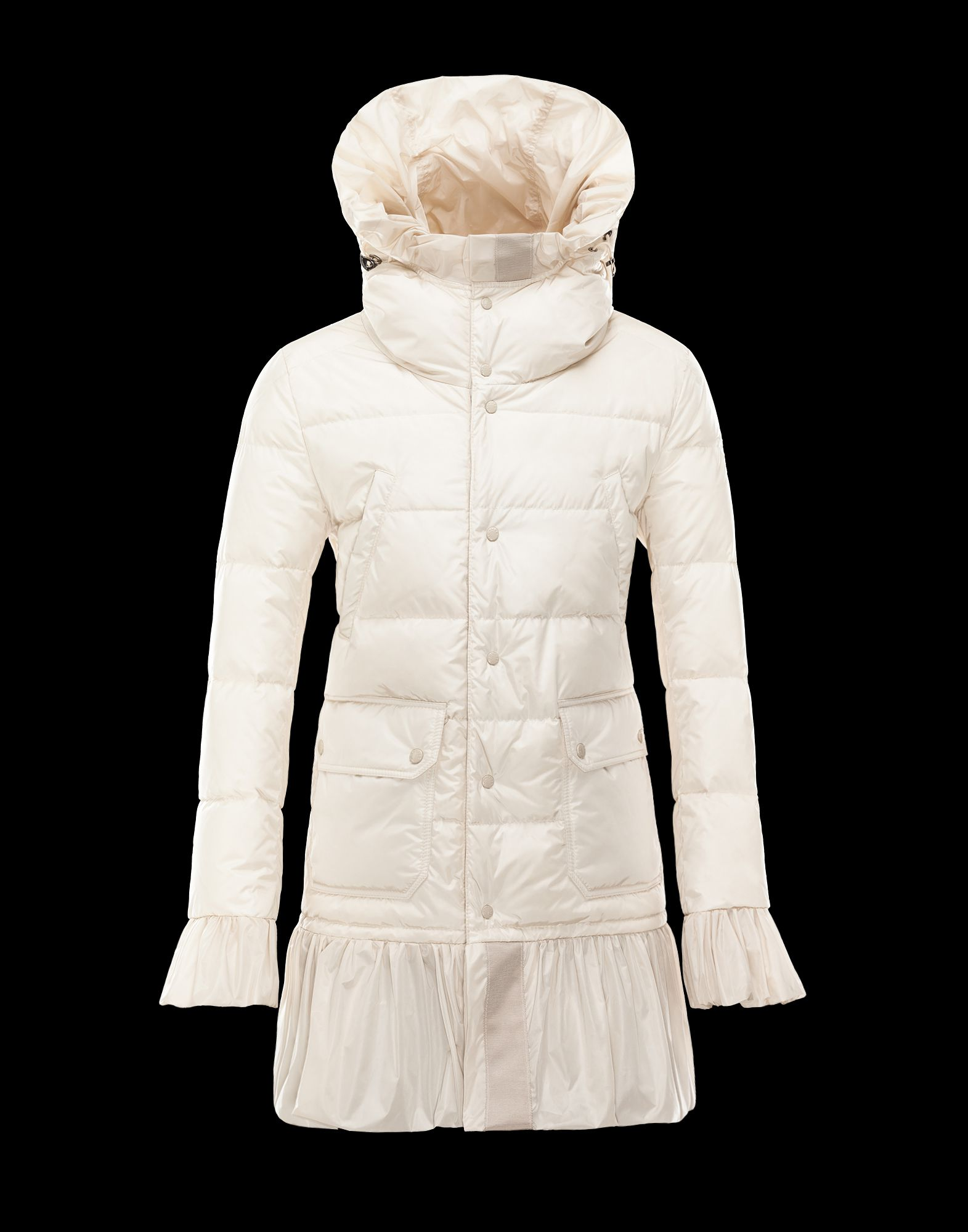 Moncler SERRE Down Coat Women Beige