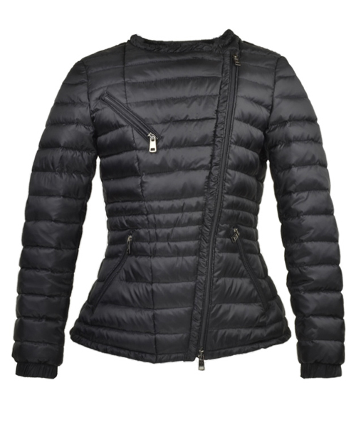 Moncler Adis Down Jackets For Women Zip Black