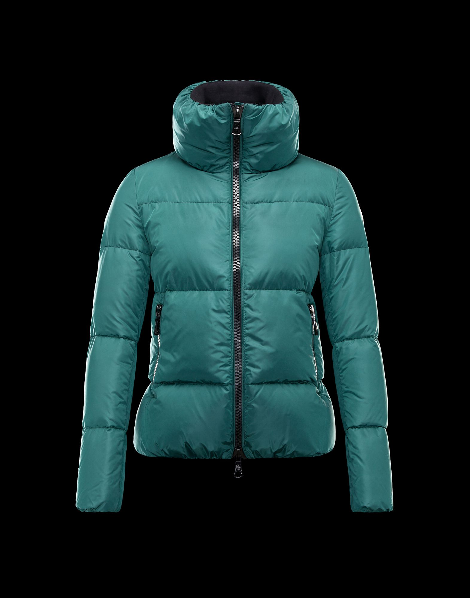 Moncler CHERY Jacket For Women Zip Collar Green