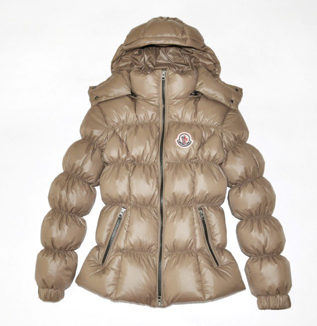 Moncler Design Women Down Jacket Stand Collar Apricot