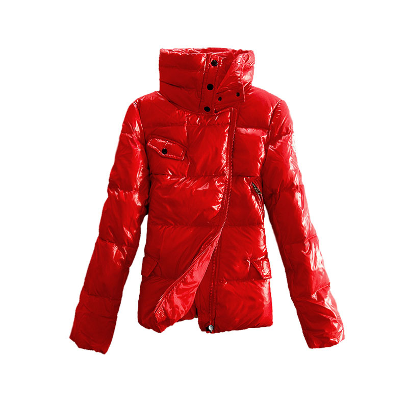 Moncler Down Jackets Womens Stand Collar Red