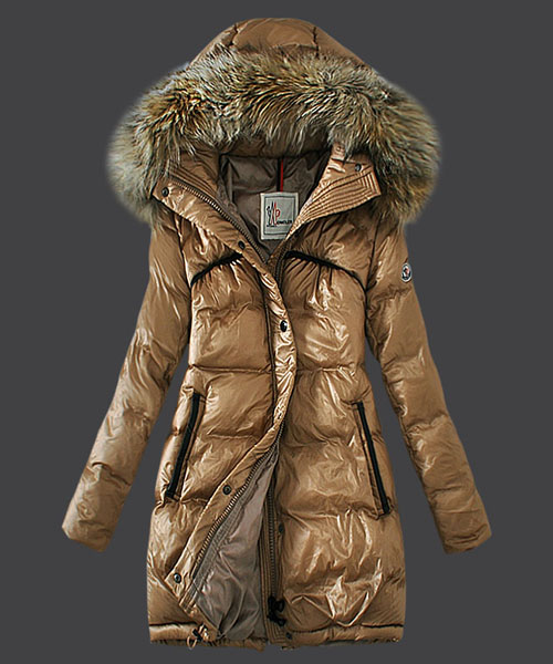 Moncler Euramerican Style Down Coats Womens Light Tan