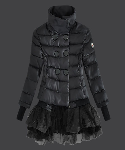 Moncler Fashion Down Jackets Womens Lace Black