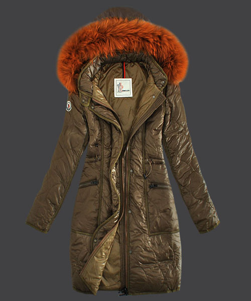 Moncler Fashion Womens Down Coats Windproof Khaki
