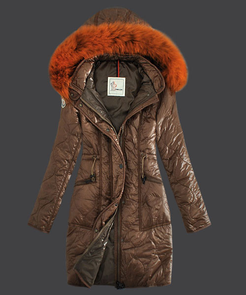 Moncler Fashion Womens Down Coats Windproof Light Coffee