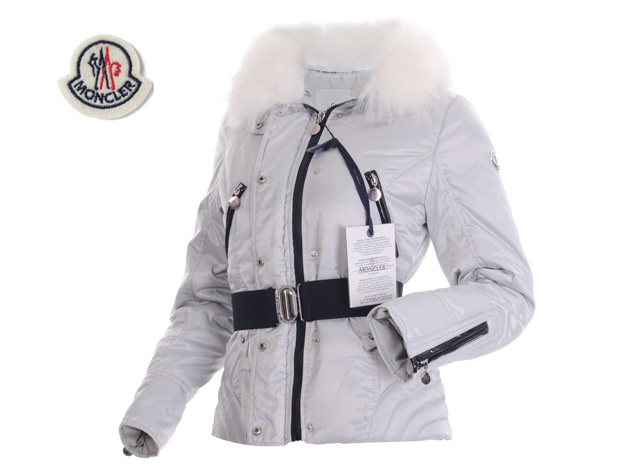 Moncler Faucon Women Down Jacket Zip With Grey