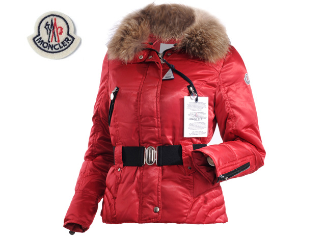 Moncler Faucon Women Down Jacket Zip With Red