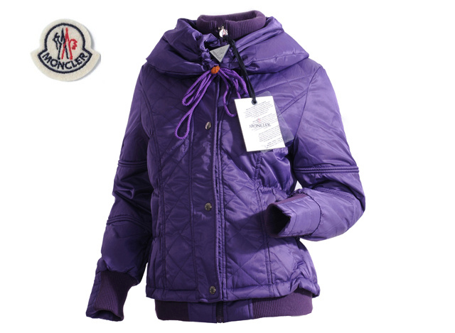 Moncler Featured Jacket Down For Womens Purple