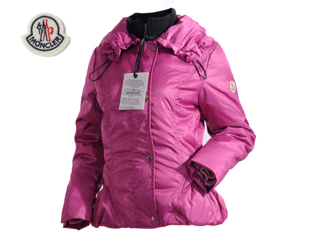 Moncler Jackets Womens Long Sleeve With Pink