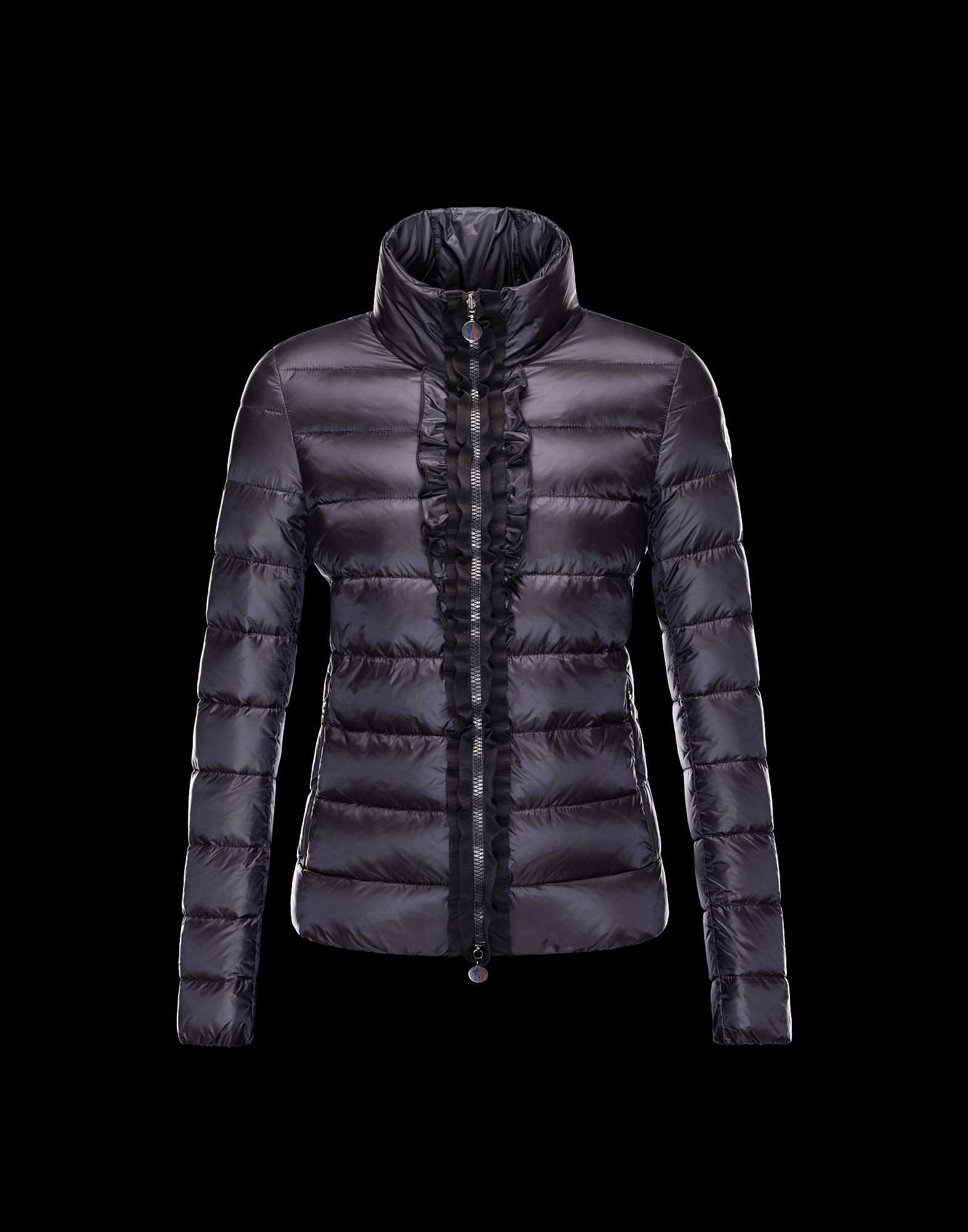 Moncler OXALIS Down Jackets Womens Collar Black