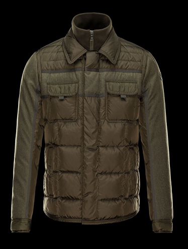 Moncler Down Jacket BLAIS Men Winter Coat Khaki