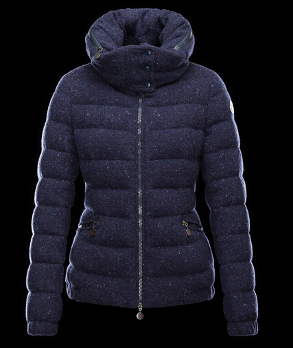 Moncler Down Coat WOMEN SANGLIER Col Coat Blue