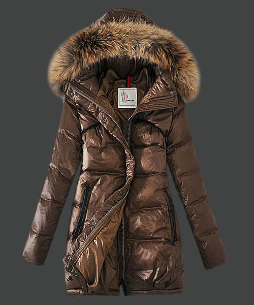 Moncler Euramerican Style Down Coats Womens Coffee