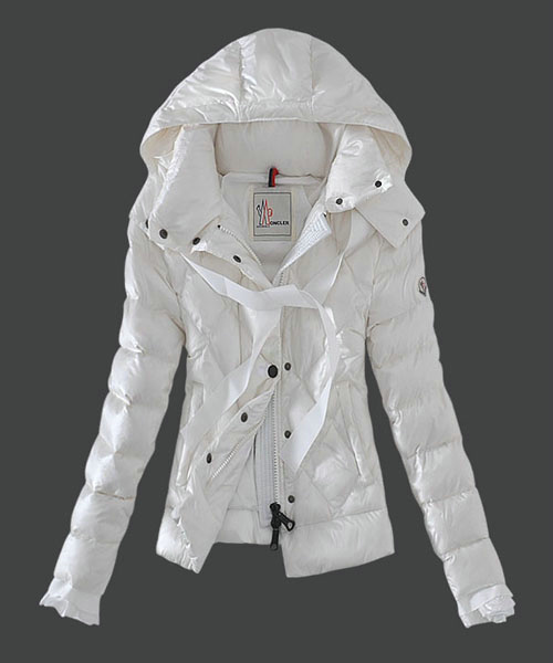 Moncler Fashion Leisure Womens Down Jackets White