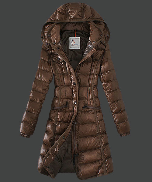 Moncler Hermine Down Coats Womens Windproof Coffee