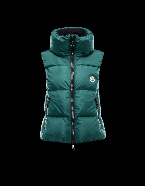 Moncler PETY Womens Down Vests Green