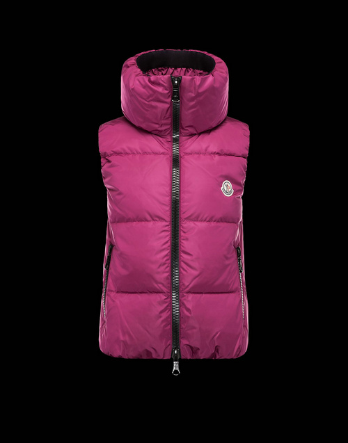 Moncler PETY Womens Down Vests Mauve