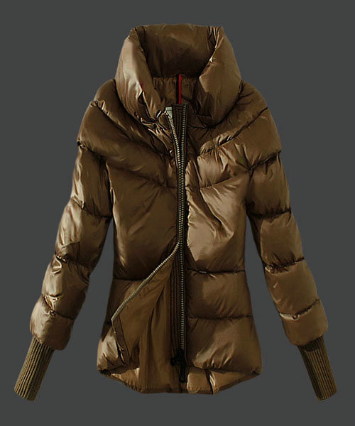 Moncler Windproof Womens Jackets Stand Collar Green Ca