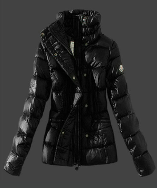 Moncler Womens Down Jackets Stand Collar Black