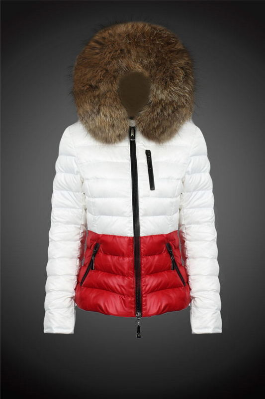 2016 Moncler Down Coats For Women With Fur Cap mc1025