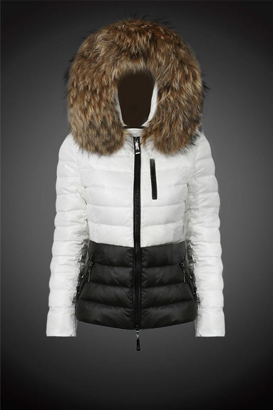 2016 Moncler Down Coats For Women With Fur Cap mc1027