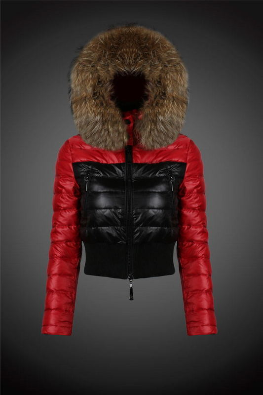 2016 Moncler Down Coats For Women With Fur Cap mc1028