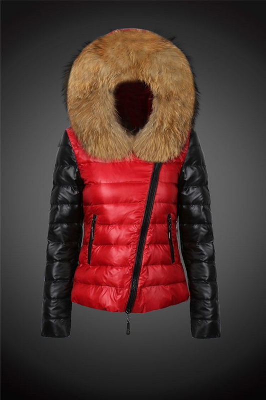 2016 Moncler Down Coats For Women With Fur Cap mc1031