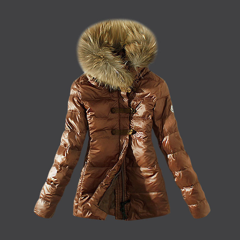 2016 Moncler Down Coats For Women With Fur Cap mc1043