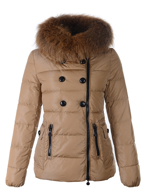 2016 Moncler Down Coats For Women With Fur Cap mc1047