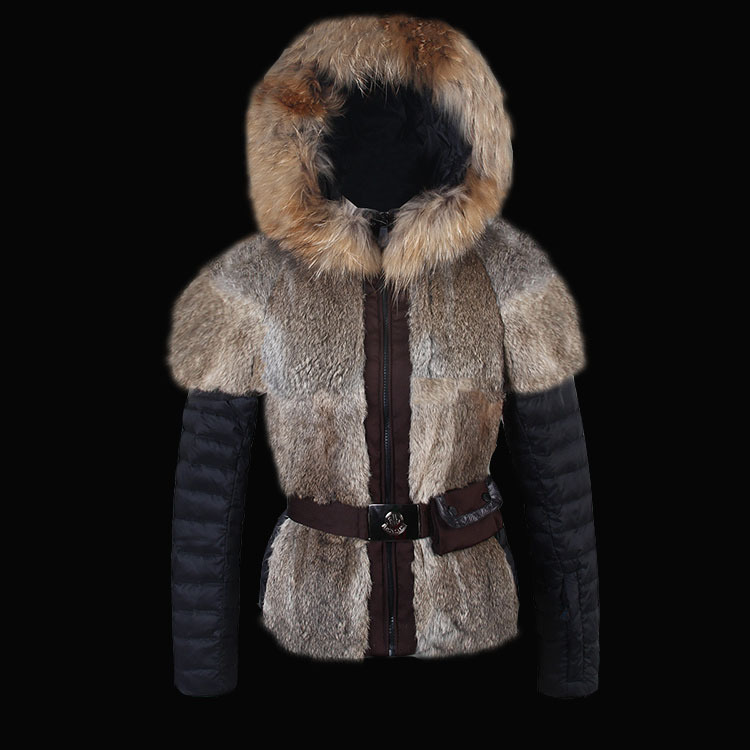 2016 Moncler Down Coats For Women With Fur Cap mc1050