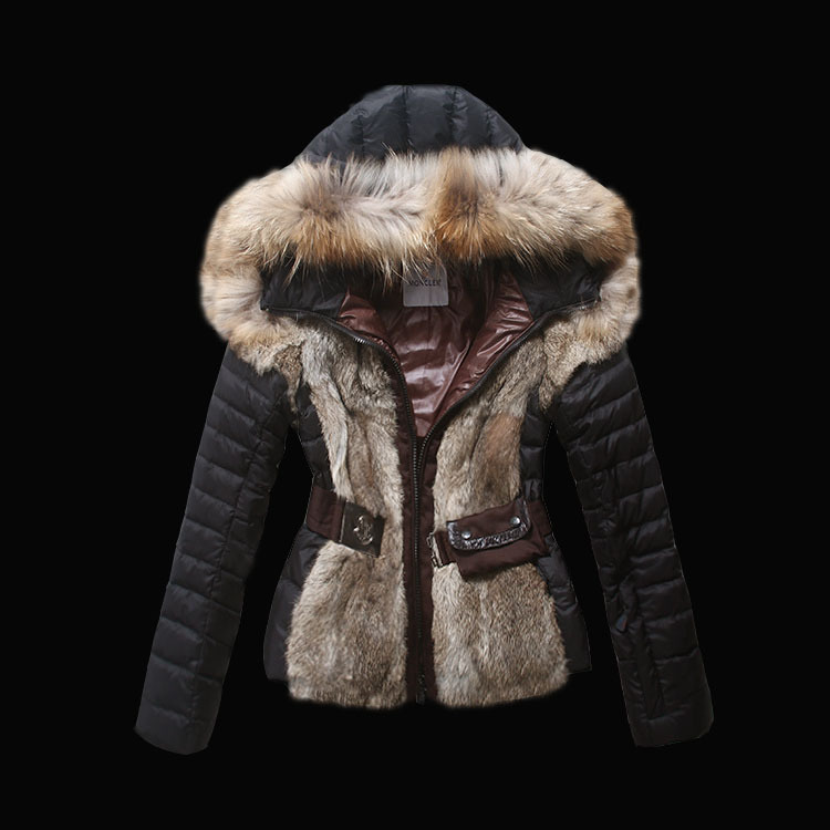 2016 Moncler Down Coats For Women With Fur Cap mc1051