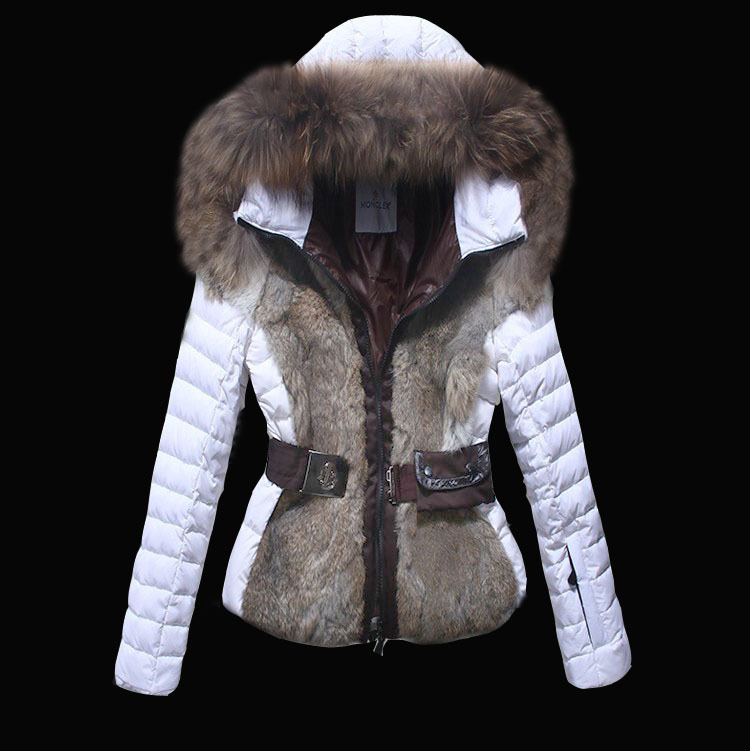 2016 Moncler Down Coats For Women With Fur Cap mc1052