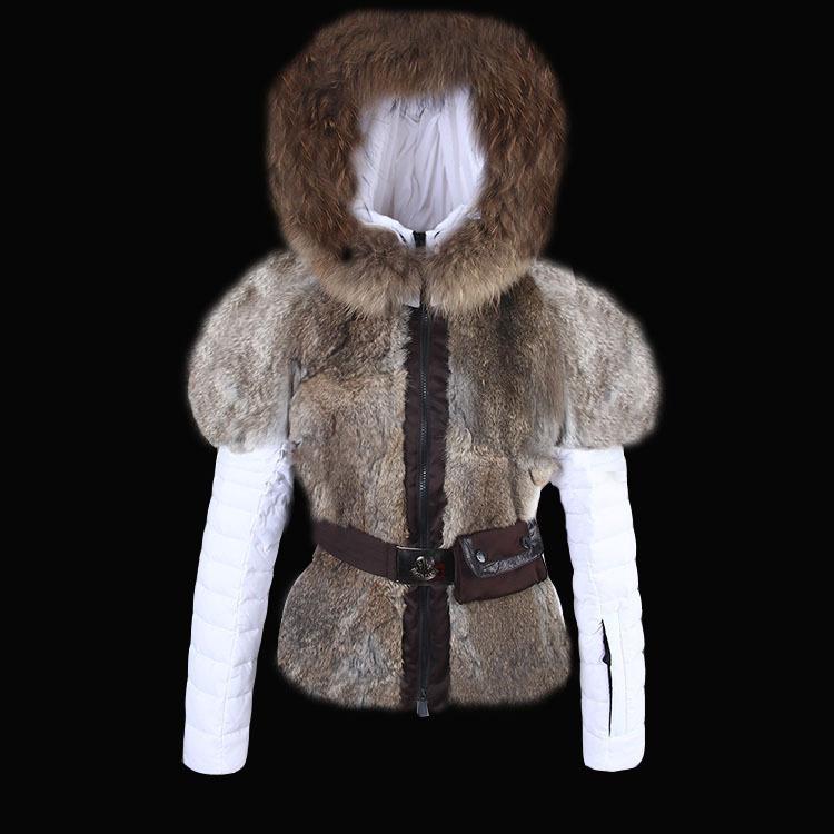2016 Moncler Down Coats For Women With Fur Cap mc1053