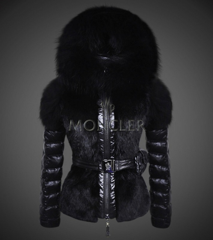 2016 Moncler Down Coats For Women With Fur Cap mc1061