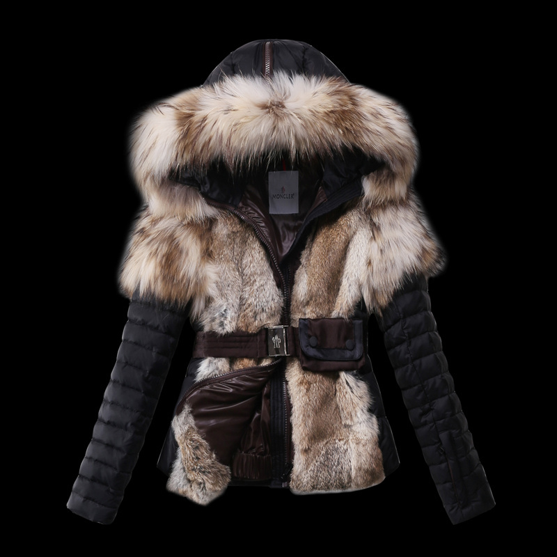 2016 Moncler Down Coats For Women With Fur Cap mc1064
