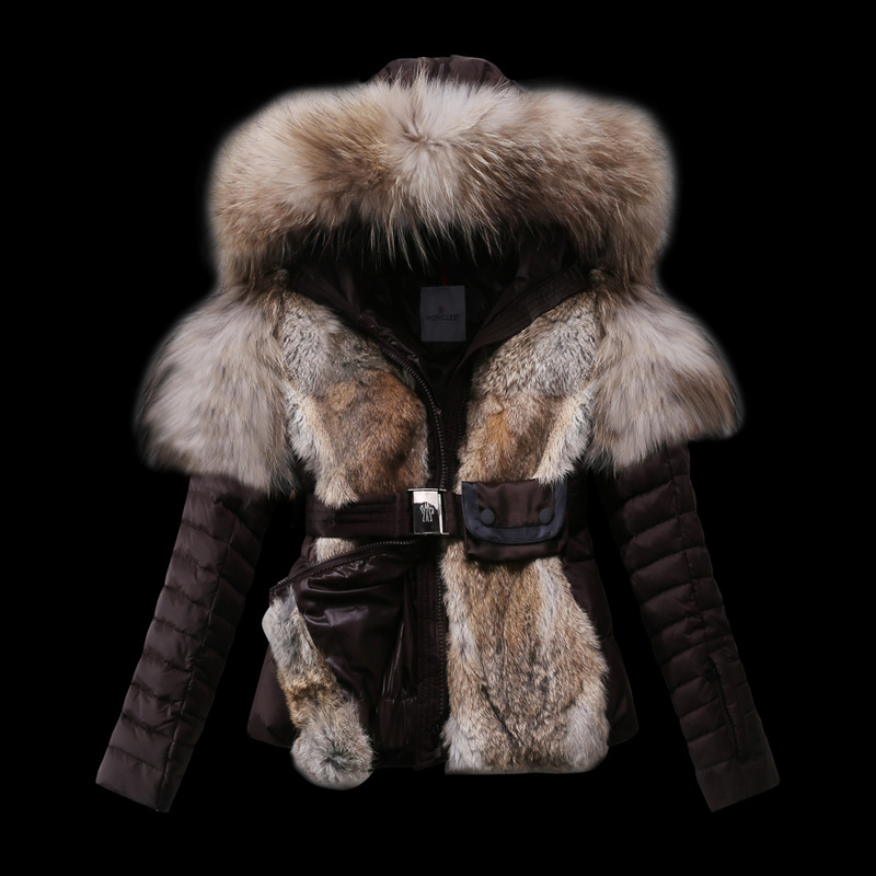 2016 Moncler Down Coats For Women With Fur Cap mc1065