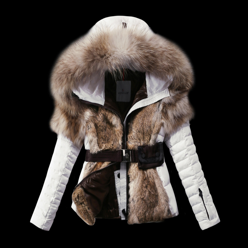 2016 Moncler Down Coats For Women With Fur Cap mc1066