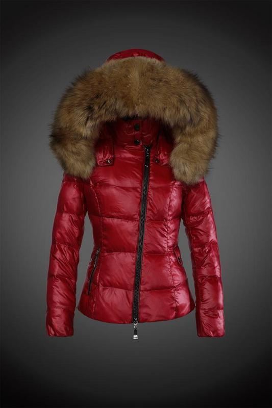 2016 Moncler Down Coats For Women With Fur Cap mc1067