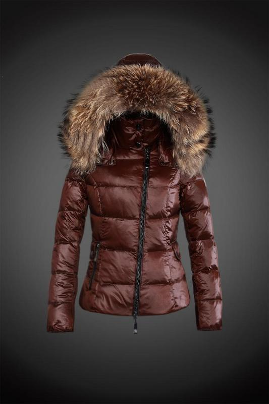 2016 Moncler Down Coats For Women With Fur Cap mc1068