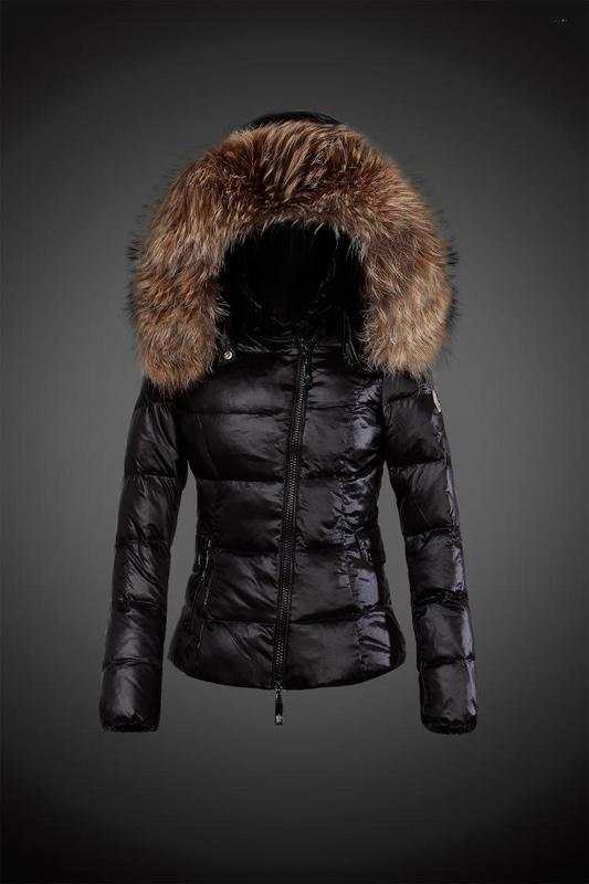 2016 Moncler Down Coats For Women With Fur Cap mc1069