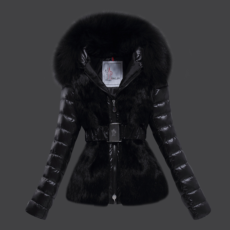 2016 Moncler Down Coats For Women With Fur Cap mc1077